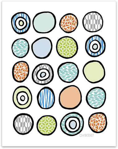 Circles Print • 3 Colorways