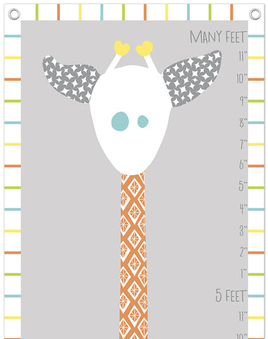 Giraffe Growth Chart Grays