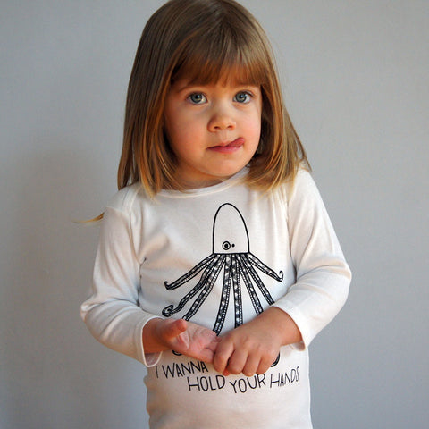 Octopus Hands Long Sleeve Lap Tee