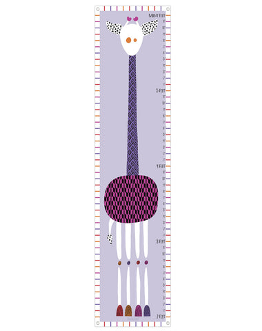 Giraffe Growth Chart Purples