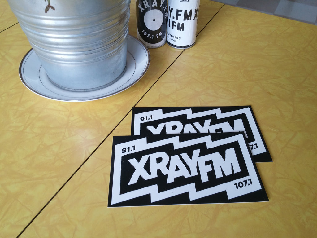 XRAY.fm Logo Sticker pack
