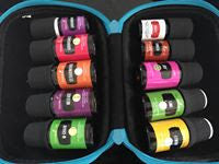 This essential oil carry case is a convenient way to transport your essential oils - durable cloth, zipper, handle and foam insert