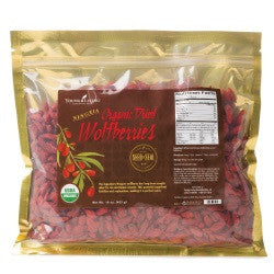 Young Living Organic dried wolfberries - with polyphenols and polysaccharides, this exotic berry is touted around the world for its taste and nutrients.