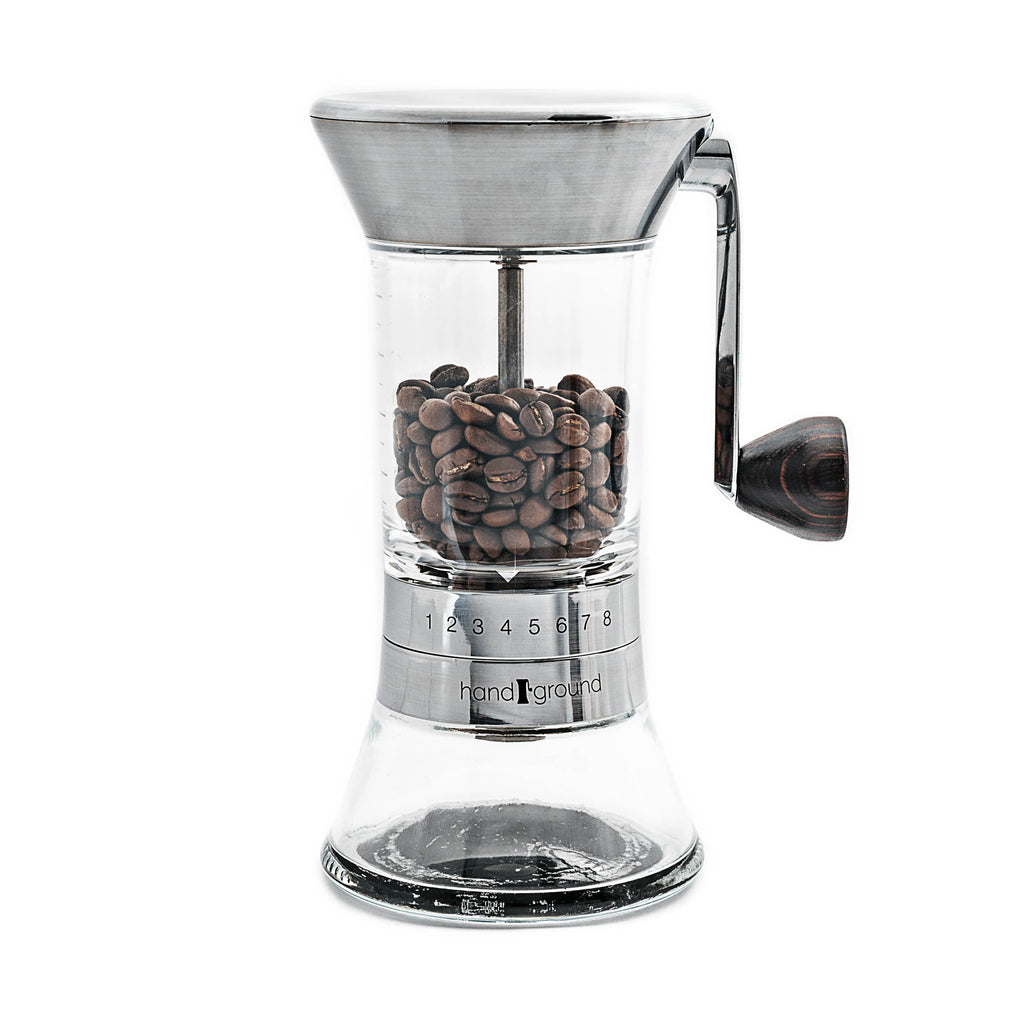 HOLIDAY SALE: Handground Precision Manual Coffee Grinder: Nickel