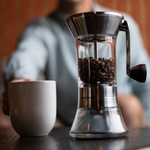 (Europe Only) Handground Precision Manual Coffee Grinder: Nickel