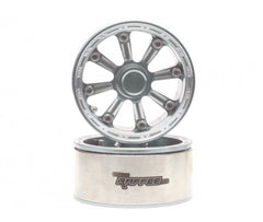 EGemini™ 1.9 High Mass Beadlock Aluminum Wheels Spoke-6 TYPE E (2) Silver