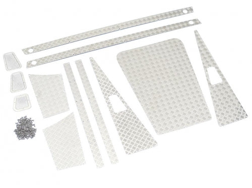 Stainless Steel Diamond Plate Accessory Pack for Defender Pickup Truck D90/D110 Silver