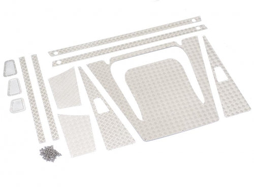 Stainless Steel Diamond Plate Accessories Pack for Defender Wagon D90/D110 Silver