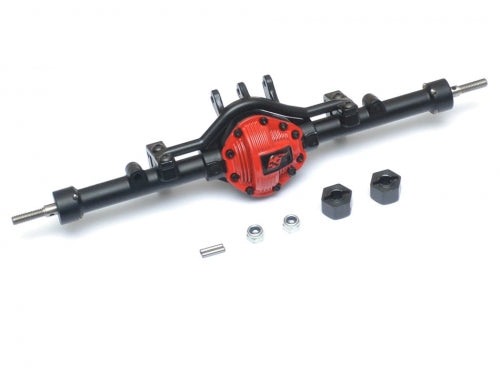 Complete Assembled Scale PHAT Rear Axle Version 2 for D90/D110 Red