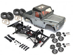 Defender D90 Pickup Assembled Chassis With TRC Raffee Hard Body