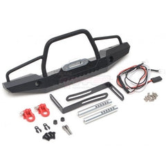 Traxxas TRX-4 Steel Tough Front And Rear Bumper Set W/ Shackles and Led Light 1 Set