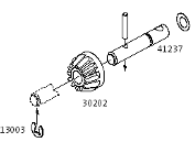 PG4 12t Bevel Gear And Shaft Axle