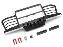 Metal Front Bumper w/ Towing Hooks For D90 D110 TRX4 Defender for Boom Racing D90/D110 Chassis