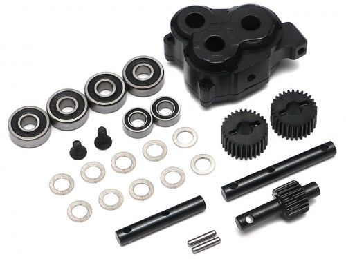 BRX Anti Torque Twist Transfer Case w/ HD Gears for TRC D110 D90 Defender for Boom Racing D90/D110 Chassis
