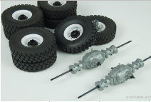 KC Or UC Series Twin Wheel Conversion Kit With Alloy Axles