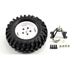 Fastrax 'KONG' Crawler Spare Tyre/1.9 Scale Wheel 96MM (White)