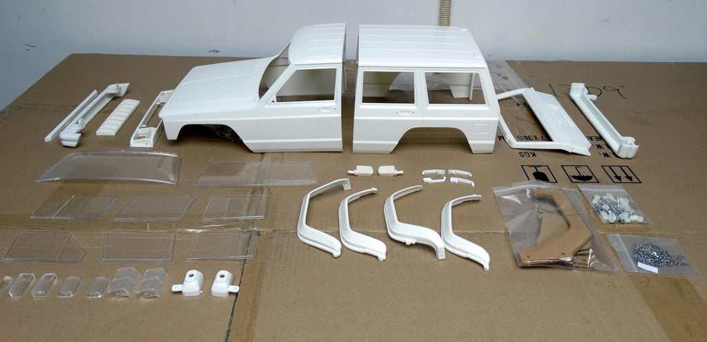 Jeep Cherokee 313mm Wheelbase 1/10 Scale Hard Plastic Body ...