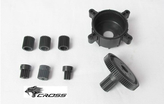 Planetary Gear Set All Cross RC Single Speed Transmissions