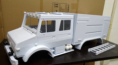 Mercedes-Benz Unimog Double Cab 1/10 Scale 6x6 FIRE TRUCK Plastic Body