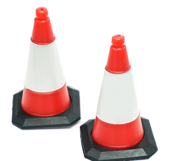 1/10 Scale Traffic Cone Accessory 4pcs