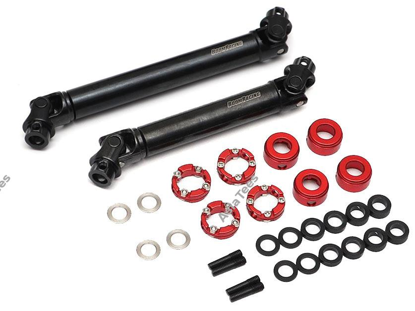BADASS™ HD Steel Center Drive Shaft Set for Axial SCX10 II Kit Front & Rear (2) [Recon G6 Certified] for Axial SCX10 II