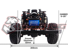 RC D90 Defender Scaler Kit 3Racing EX REAL 1/10 With Hard Body