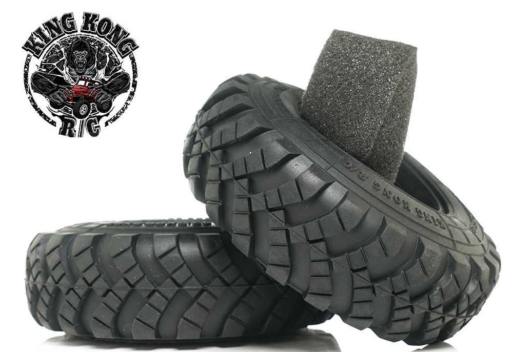 "King Kong RC 1.75"" Herringbone Truck Tires w/ Insert 95mm x 30mm (2) for  CA30"