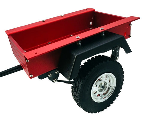 1/10 CNC Machined Small Trailer Kit Single Axle (Red)