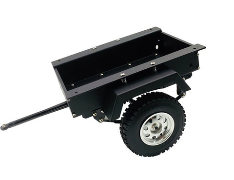1/10 CNC Machined Small Trailer Kit Single Axle (Black)