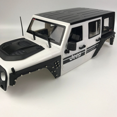 Jeep Wrangler Custom Fender Flare Set For 4 Door 1/10 Scale (313mm Wheelbase)
