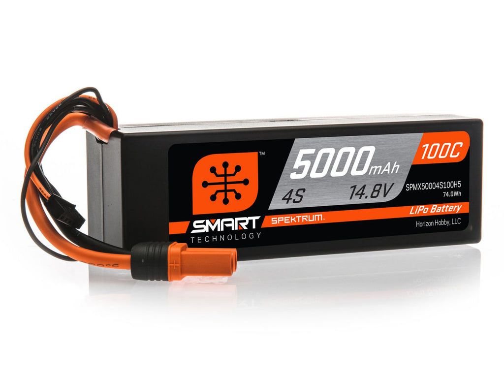 Spektrum Smart 5000mAh 4S 14.8V 100C LiPo Hardcase; IC5
