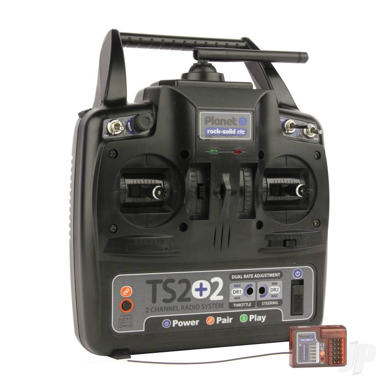 Planet TS2+2 2.4GHz 2-Channel Stick Transmitter with 2 Aux Channels with 6-ch Rx