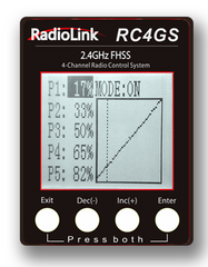 Radiolink 2.4G 4CH Integrated Gyro RC4GS Transmitter With R6FG Receiver