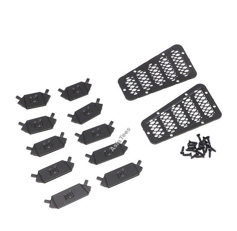 Aluminum Vent for Defender D90 D110 Version B Black