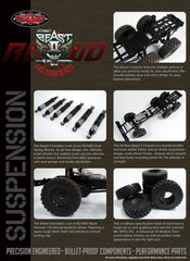 RC4WD 1/14 Scale Beast 2 6x6 Truck Complete Kit.