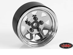 "5 Lug Wagon 1.9"" Single Steel Stamped Beadlock Wheel(Chrome)"