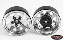 "5 Lug Wagon 1.9"" Steel Stamped Beadlock Wheels (Chrome)"
