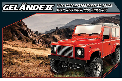 RC4WD 1/18 Gelande II RTR with D90 Body Set
