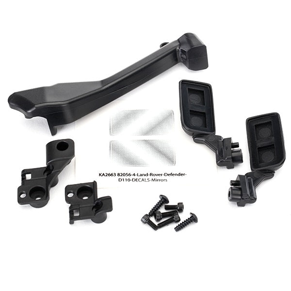 Traxxas TRX-4 Mirrors, side (left & right)/ snorkel/ mounting hardware