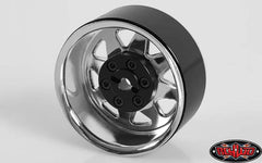"RC4WD 6 Lug Wagon 1.9"" Steel Stamped Beadlock Wheel (Chrome)"