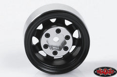"RC4WD Stamped Steel 1.55"" Stock Black Beadlock Wheels x4"