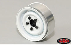 "RC4WD 1.55"" Landies Vintage Stamped Steel Beadlock Wheels (White) X4"
