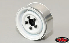 "RC4WD 1.55"" Landies Vintage Single Stamped Steel Beadlock Wheel (White) x1"