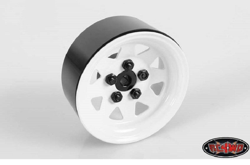 "RC4WD Lug Wagon 1.9"" Steel Stamped Beadlock Wheels (White) x4"