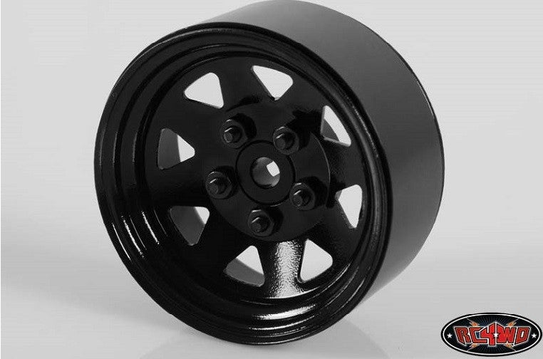 "RC4WD 5 Lug Wagon 1.9"" Steel Stamped Beadlock Wheels (Black) x4"