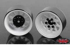 "RC4WD OEM Stamped Steel 1.9"" Beadlock Wheels (White)"