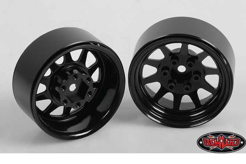 "RC4WD OEM Stamped Steel 1.9"" Beadlock Wheels (Black)"