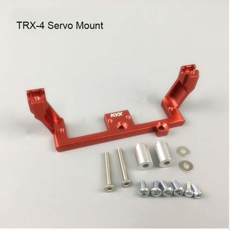 Traxxas TRX-4 Diff Lock Servo Mount (Red)