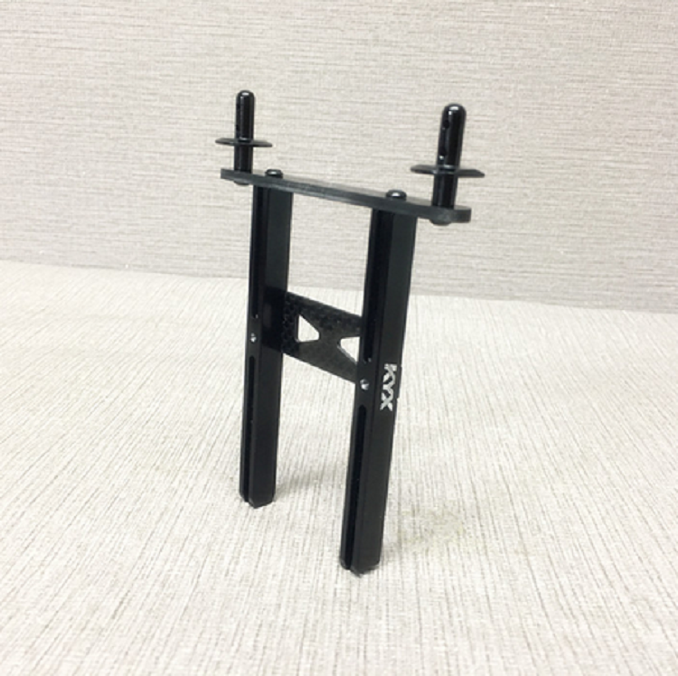 Traxxas TRX-4 Alloy Front And Rear Body Mounts (Black)
