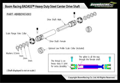HD Steel Center Drive Shaft Set for Boom Racing D90/D110 Chassis Front & Rear (2) G6 Certified